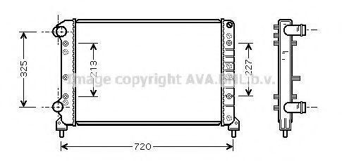 Радиатор охлаждения AVA FTA2261