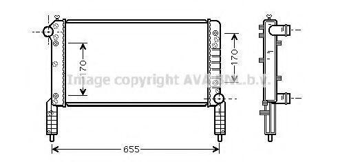 Радиатор охлаждения AVA FTA2263