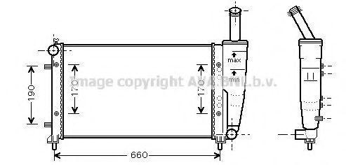 Радиатор охлаждения AVA FTA2290