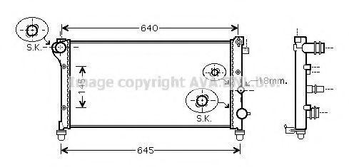 Радиатор охлаждения AVA FTA2292