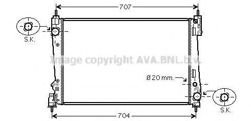 Радиатор охлаждения AVA FTA2312