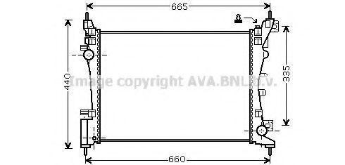 Радиатор охлаждения AVA FTA2318