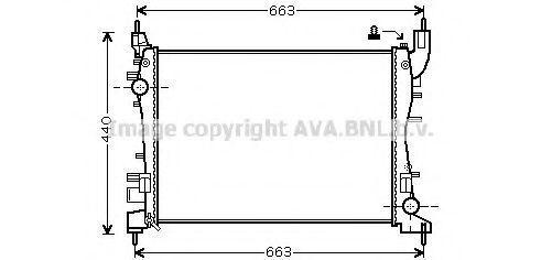Радиатор охлаждения AVA FTA2358