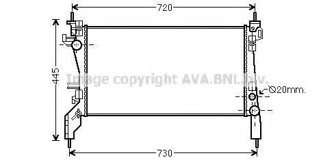 Радиатор охлаждения AVA FTA2380
