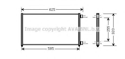 Радиатор кондиционера AVA FTA5256