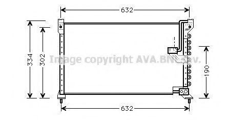 Радиатор кондиционера AVA HD5085