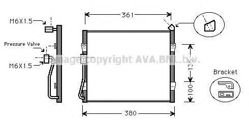 Радиатор кондиционера AVA HD5089
