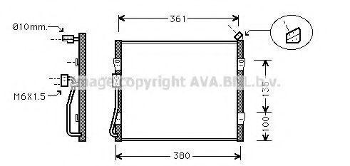 Радиатор кондиционера AVA HD5090