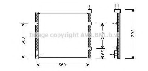 Радиатор кондиционера AVA HD5095