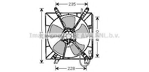 Вентилятор, охлаждение двигателя AVA HD7509