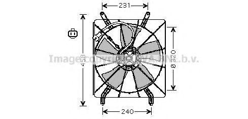 Вентилятор, охлаждение двигателя AVA HD7513