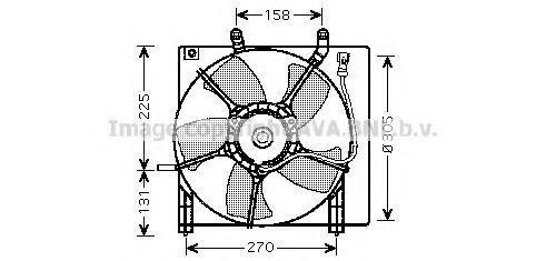 Вентилятор охлаждения радиатора AVA HD7534