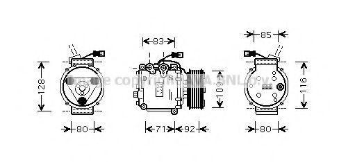 Компрессор, кондиционер AVA HDAK169
