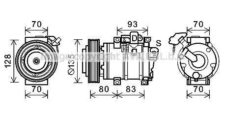 Компрессор, кондиционер AVA HDK283