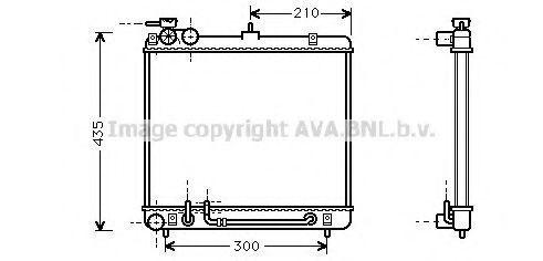 Радиатор, охлаждение двигателя AVA HY2052