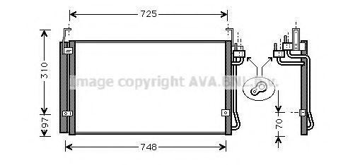 Конденсатор, кондиционер AVA HY5071D