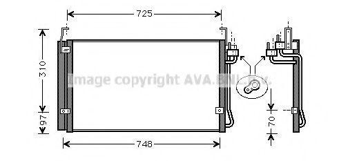 Конденсатор, кондиционер AVA HY5072D
