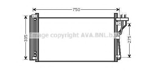 Радиатор кондиционера AVA HY5184D