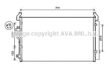 Радиатор кондиционера AVA HY5360D