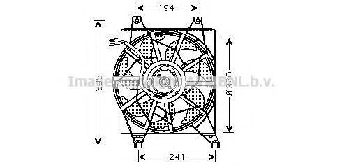 Вентилятор, охлаждение двигателя AVA HY7502