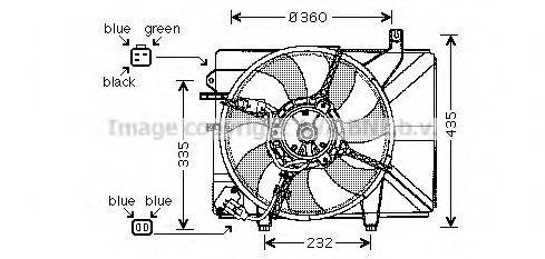Вентилятор охлаждения радиатора AVA HY 7511