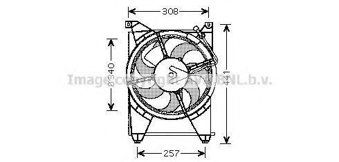 Вентилятор, охлаждение двигателя AVA HY7514