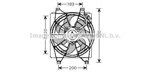 Вентилятор, охлаждение двигателя AVA HY7522