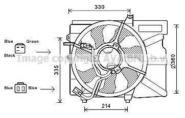 Вентилятор, охлаждение двигателя AVA HY7525