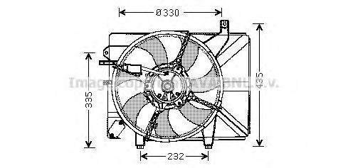 Вентилятор охлаждения радиатора AVA HY7526