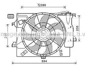Вентилятор, охлаждение двигателя AVA HY7541