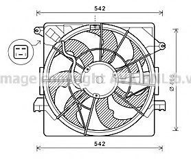 Вентилятор, охлаждение двигателя AVA HY7550