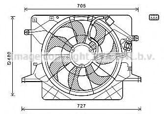 Вентилятор, охлаждение двигателя AVA HY7559