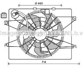 Вентилятор, охлаждение двигателя AVA HY7566