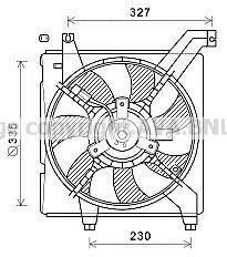 Вентилятор, охлаждение двигателя AVA HY7568
