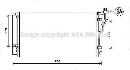 Конденсор кондиционера AVA HYA5246D