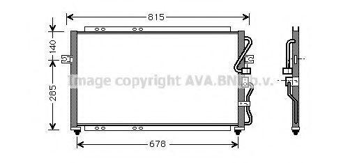 Радиатор кондиционера AVA KA5014