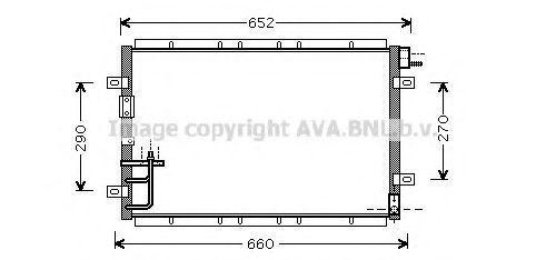 Радиатор кондиционера AVA KA5030
