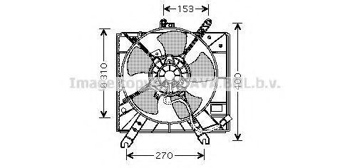 Вентилятор в сборе AVA KA7505