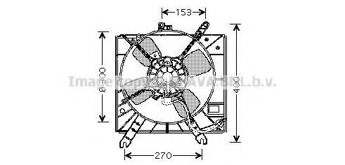 Вентилятор, охлаждение двигателя AVA KA7507