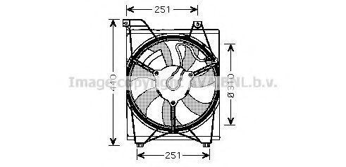 Вентилятор охлаждения радиатора AVA KA7516