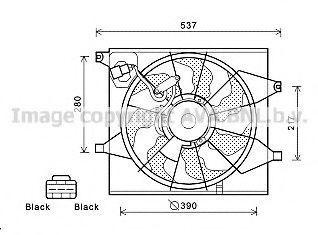 Вентилятор, охлаждение двигателя AVA KA7524