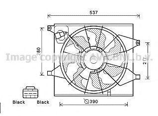 Вентилятор, охлаждение двигателя AVA KA7525