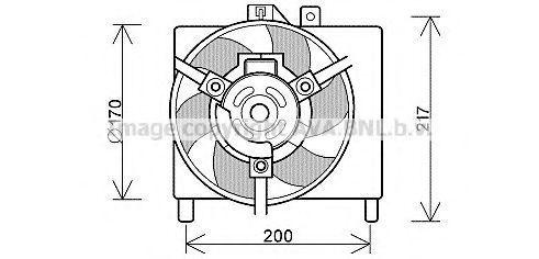 Вентилятор, охлаждение двигателя AVA MC7503