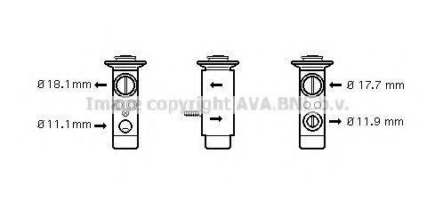 Клапан дроссельный кондиционера AVA MS1124