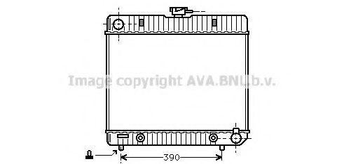 Радиатор охлаждения AVA MS2043