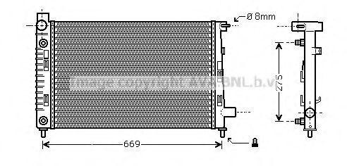 Радиатор, охлаждение двигателя AVA MS2282
