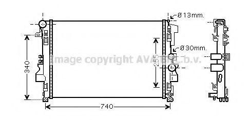 Радиатор охлаждения AVA MS2356