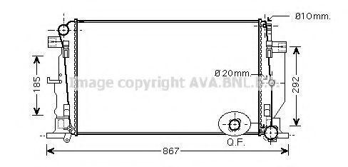 Радиатор охлаждения AVA MS2444