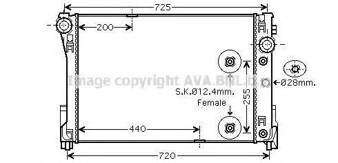 Радиатор охлаждения AVA MS2452