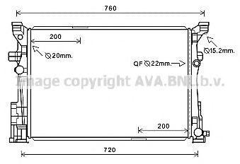 Радиатор охлаждения AVA MS2653